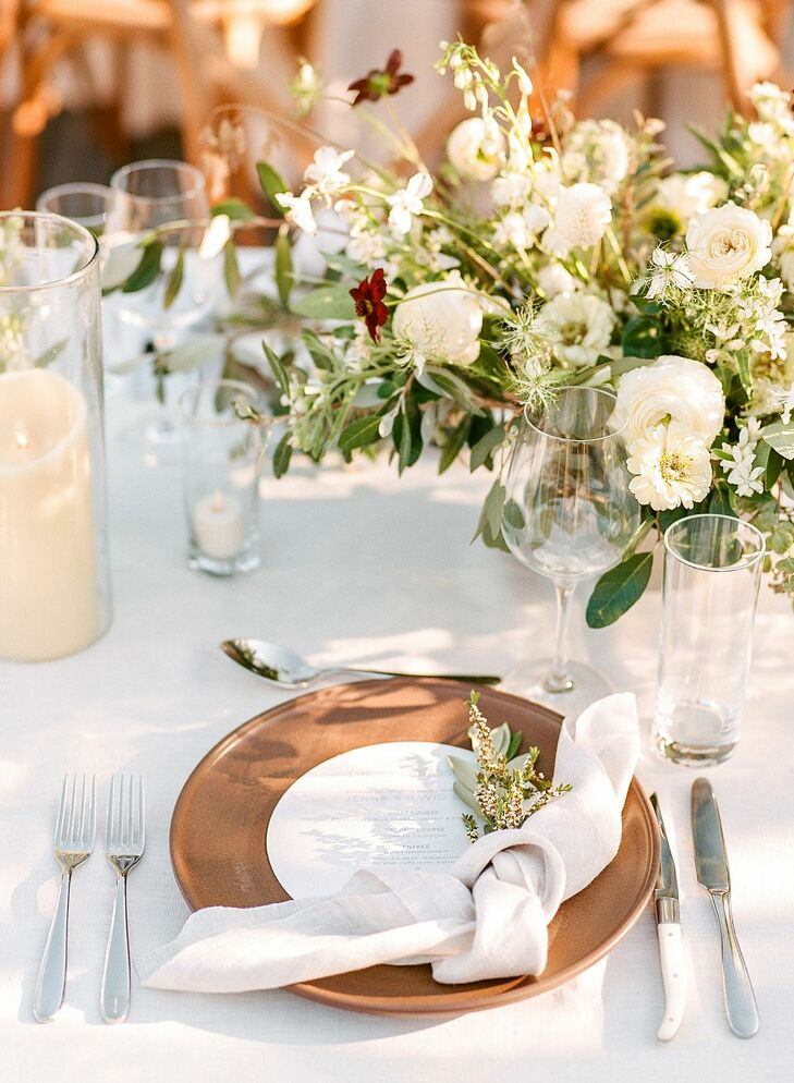 Place Setting for Reception at Timber Cove Resort in Jenner, California