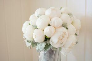 Pure White Peony Bridal Bouquet