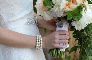 Vintage Lace Wedding Bouquet Wrap