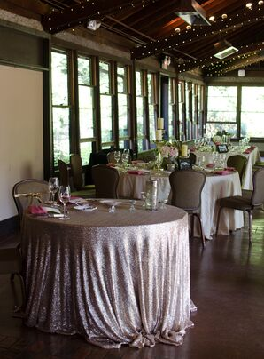 Glitzy Pink and Ivory The Deerpark Restaurant Reception
