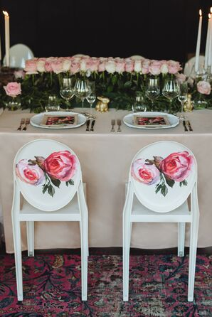 Rose Reception Chair Decals