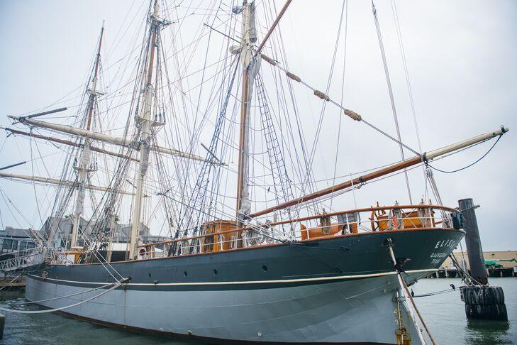 1877 Tall Ship Elissa Wedding Ceremony Location