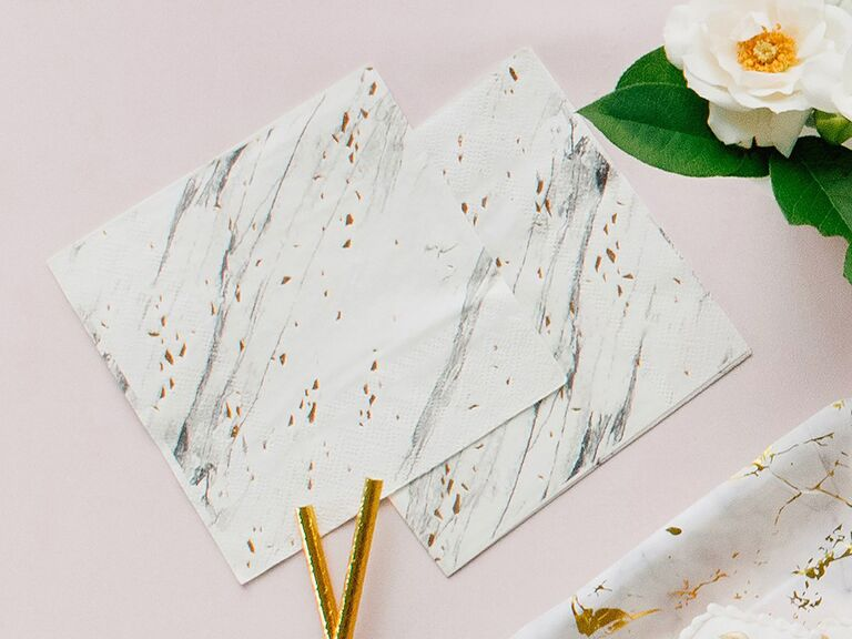 Affordable and elegant marble effect napkins