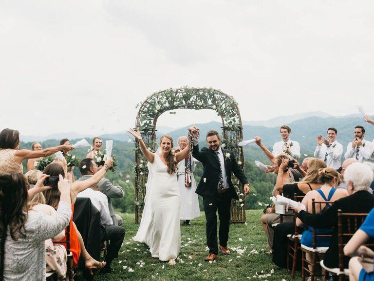 Asheville wedding venue in Marshall, North Carolina.