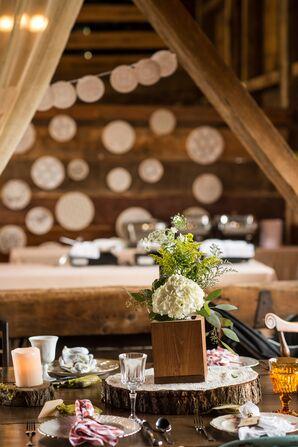 Farm Table Settings with DIY Centerpieces