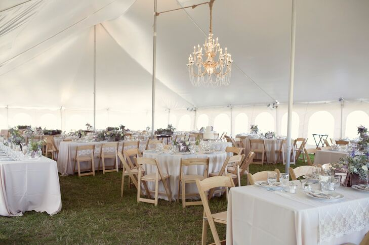 A Chandelier and Tented Reception at Cherry Basket Farm