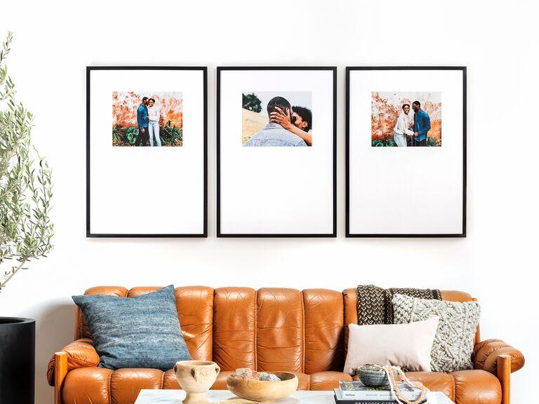 Framed triptych photo gift idea