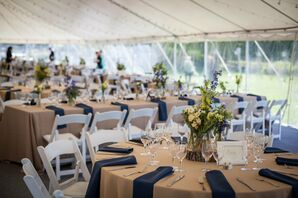 Rustic Tented Wedding Reception