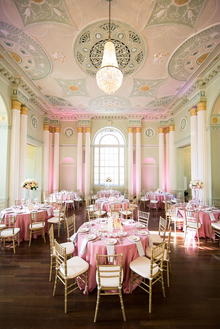 Top 13 wedding color and style mistakes not to make green and pink wedding reception venue junglespirit Image collections