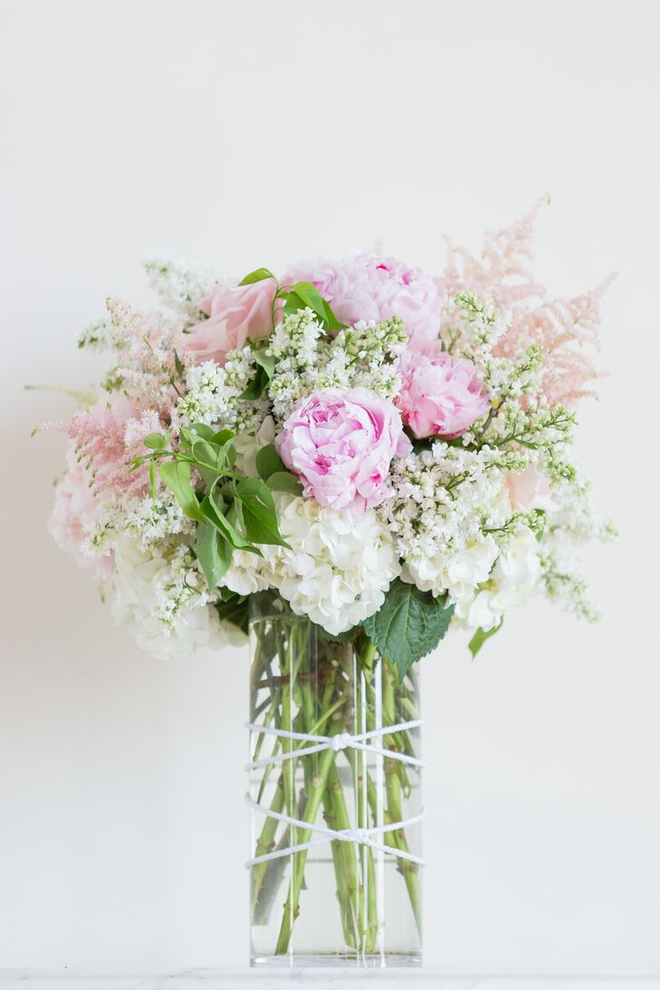 Textured Pink and White Spring Bridal Bouquet