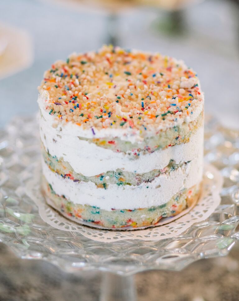 Funfetti naked cake by Momofuku Milk Bar