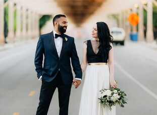 For their wedding, Jacquie Pelusi (31 and a marketing account manager) and Chinar Desai (32 and a marketing VP) struggled with how to respect his pare