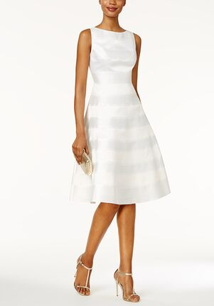 Adrianna Papell Wedding Dresses Adrianna Papell Striped A-Line Dress Sheath Wedding Dress
