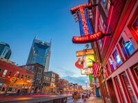 Downtown Nashville music venues and bars