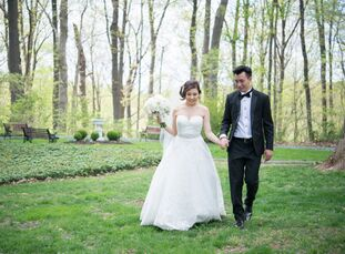 Joyce Chan (26 and a marketing manager) and Raymond Chan's (29 and an insurance broker) alfresco spring wedding was personalized from start to finish