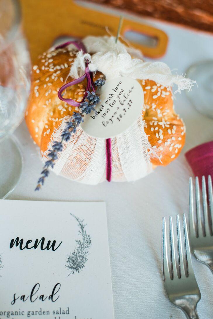 Homemade Bread Wedding Favors