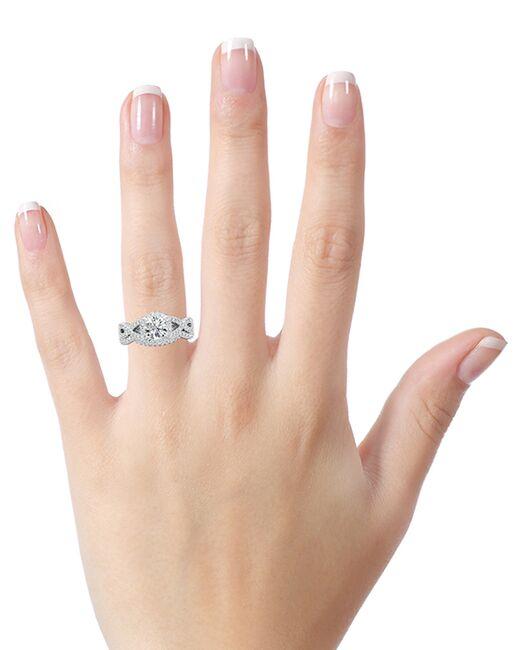 DiamondWish.com Glamorous Princess, Round, Oval Cut Engagement Ring