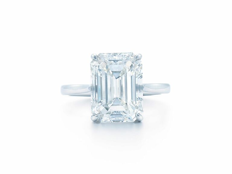 Kwiat emerald cut engagement ring