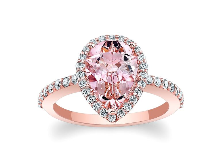 Barkev S Morganite Pink Engagement Ring