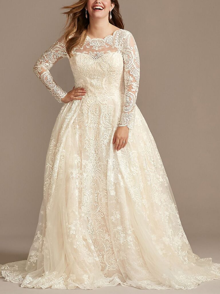 27 Wedding Dresses With Sleeves We Re Obsessing Over,Wedding Guest Pinterest Lace Dress Styles