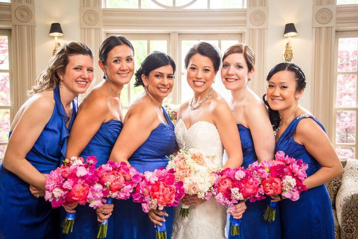 Vibrant Blue Bridesmaid Dresses