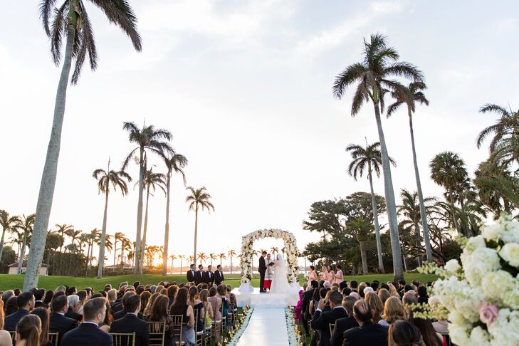 Luxurious Tropical Ceremony at Florida Country Club