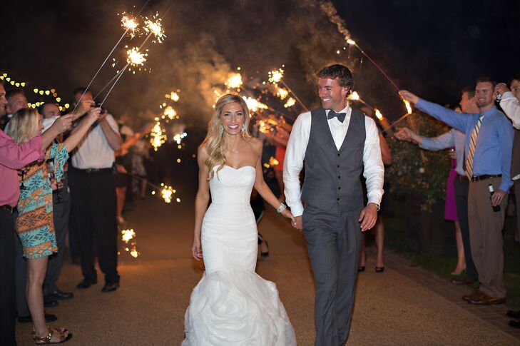 Sydney and Ryan Sparkler Exit