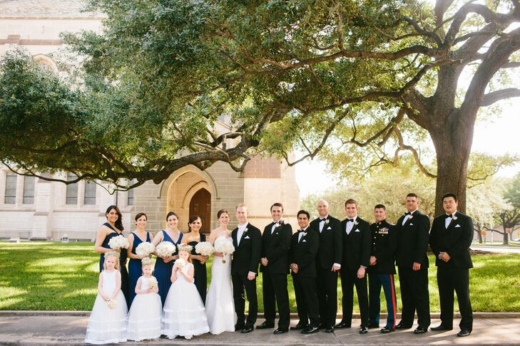 Wedding Party at St  Paul's United Methodist Church in Houston