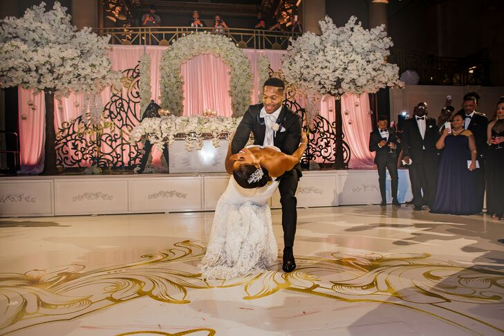 First Dance During Reception at Cipriani Wall Street in New York City