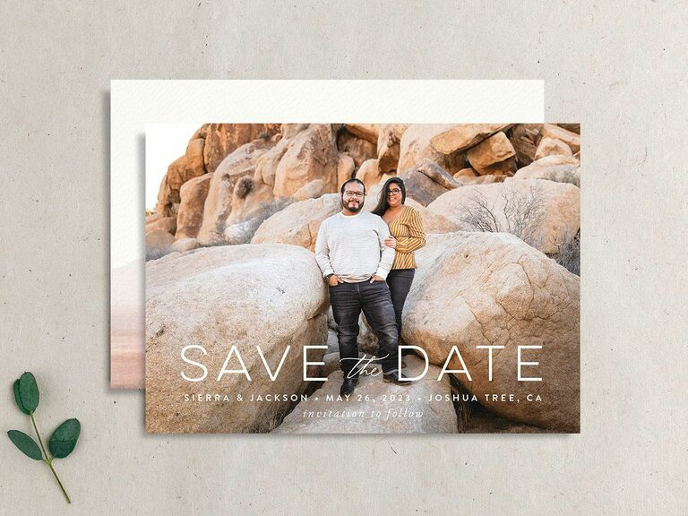 joshua tree destination wedding save the date
