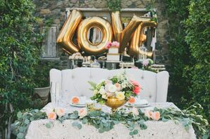 Whimsical, Romantic Sweetheart Table