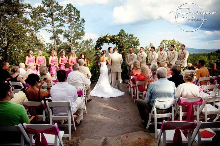An enchanting evening wedding venue winery cabin for Cabin wedding venues