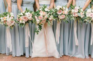 Elegant Pale Pink Rose Bouquets