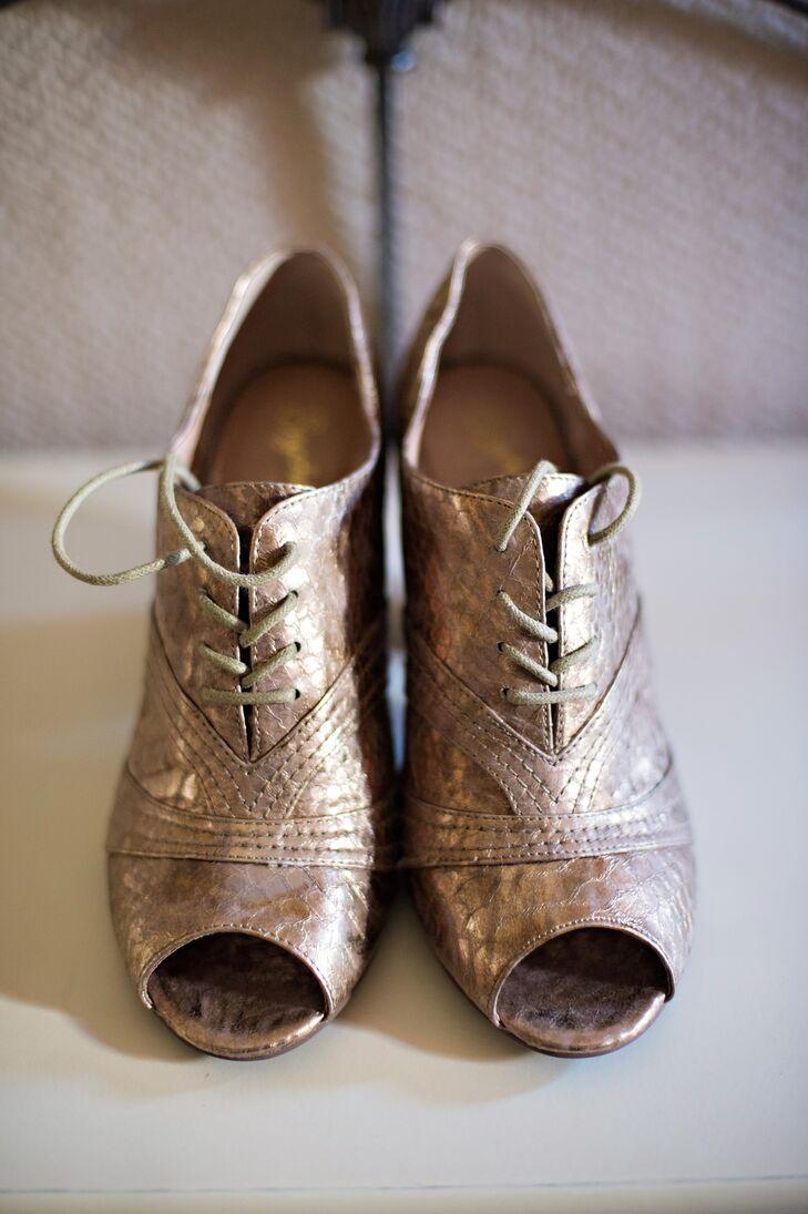 Gold Anthropologie Wedding Heels