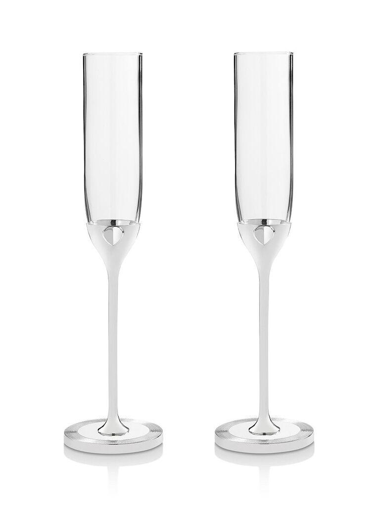 Champagne flutes bridal shower gift idea