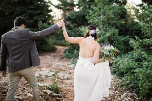 Bohemian Open-Back Wedding Dress