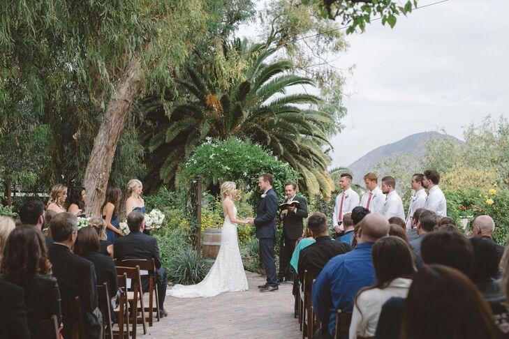 Long Train on Ivory Wedding Dress