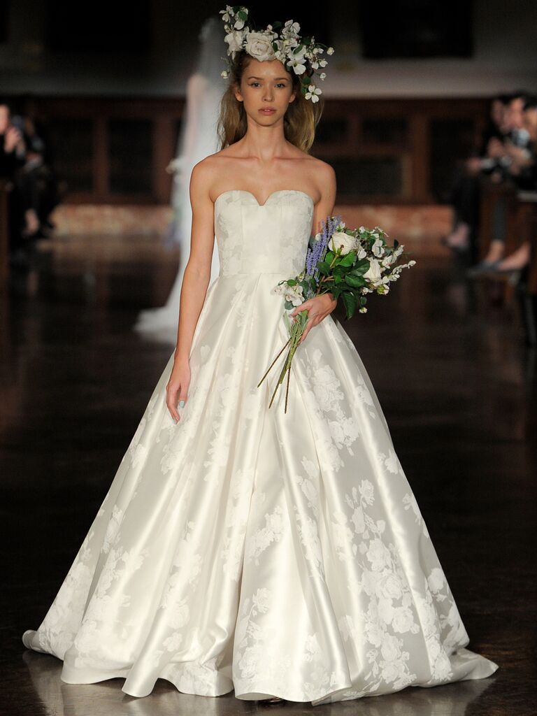 Reem Acra Spring 2019 silk ball gown wedding dress