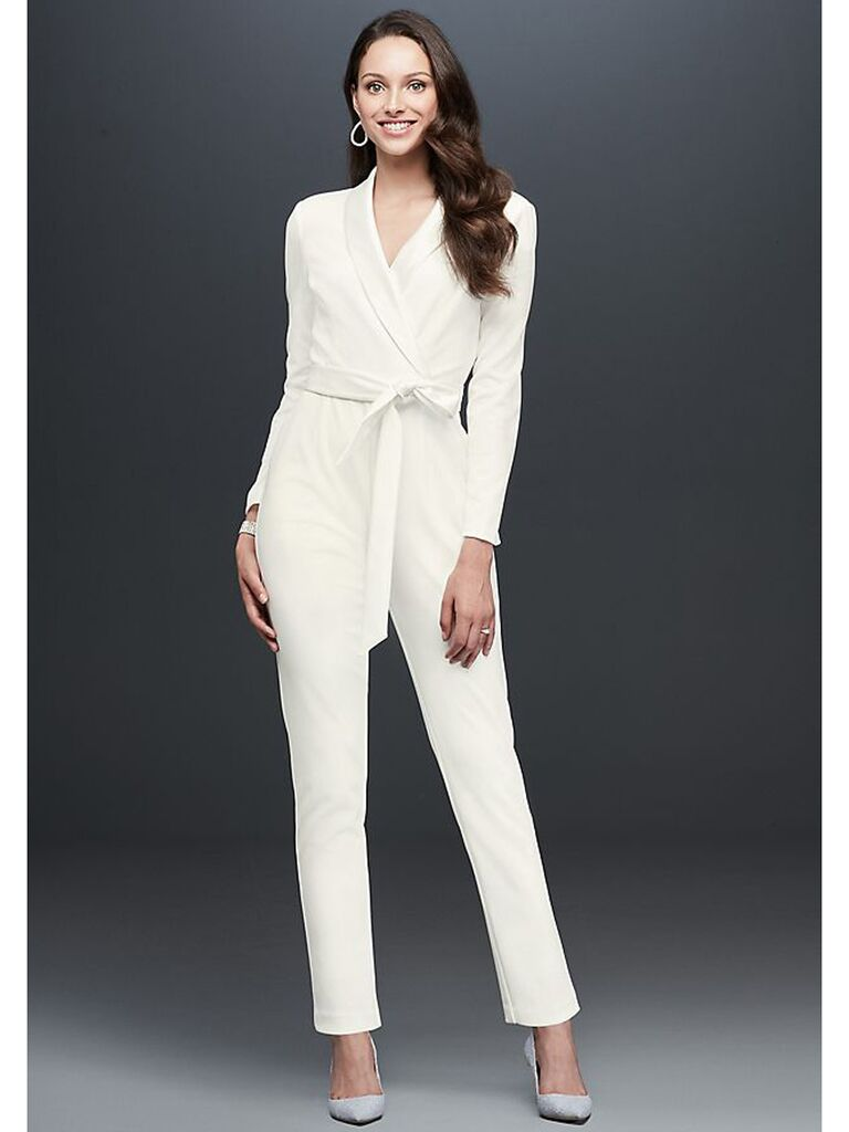 White tuxedo jumpsuit