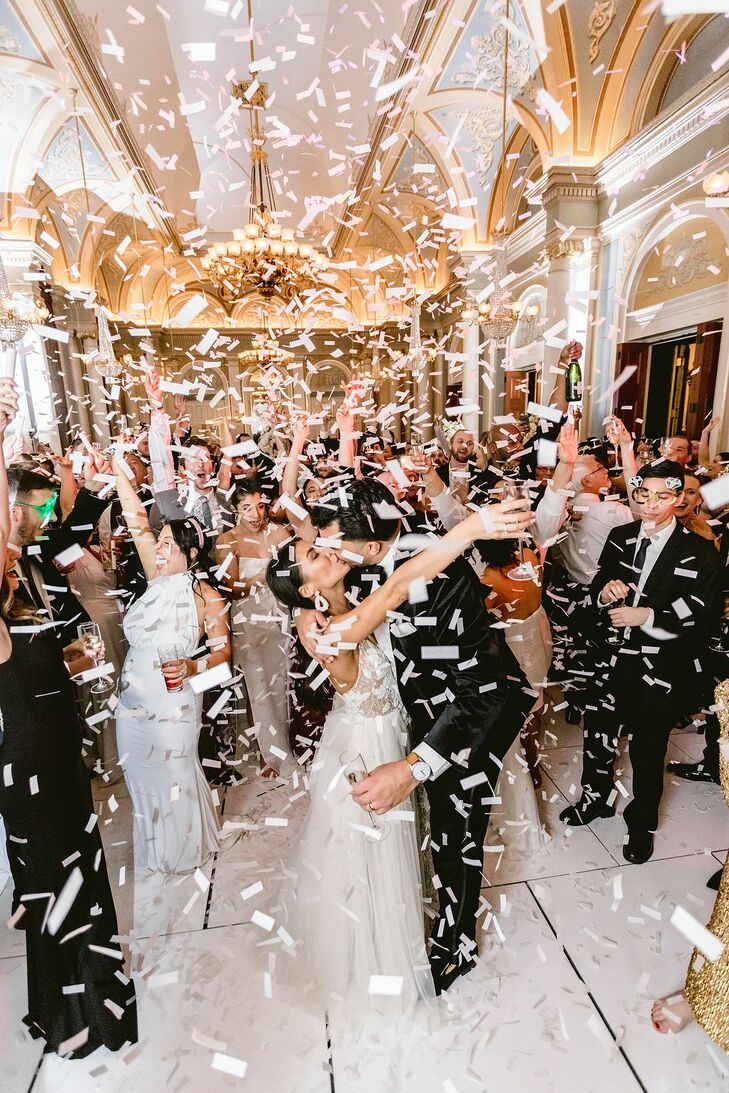 Confetti During Reception at the Academy of Music in Philadelphia was Packed