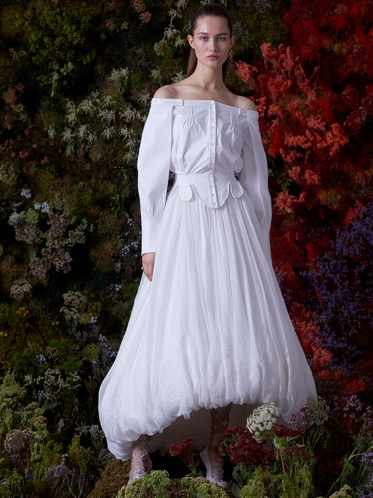 EDEM off-the-shoulder dress