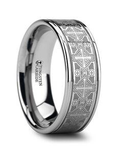 Mens Tungsten Wedding Bands W875-LEC2 Tungsten Wedding Ring