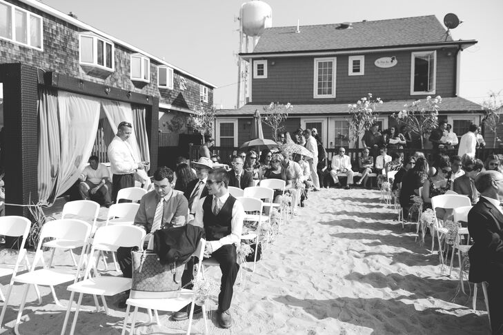 Palms Hotel Fire Island Beach Wedding Ceremony Guests