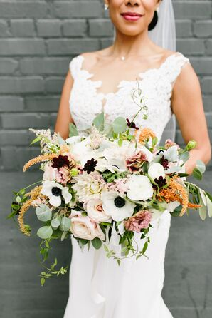 Oversize Anemone, Astilbe and Dahlia Bouquet