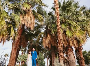 Geometric patterns, Southwestern-inspired motifs and bright colors made this modern destination wedding vibrantly come to life at Ace Hotel & Swim Clu