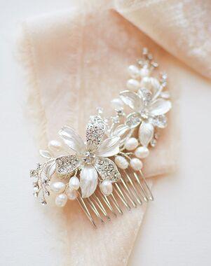 USABride Rebecca Pearl Side Comb (TC-2050) Silver Pins, Combs + Clip