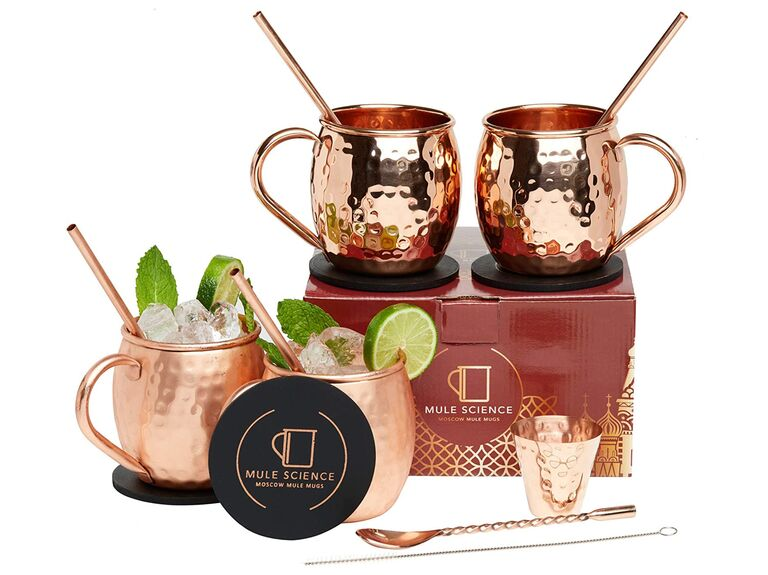 Moscow mule mug set 7th anniversary gift
