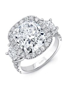 Uneek Fine Jewelry Elegant Cushion Cut Engagement Ring