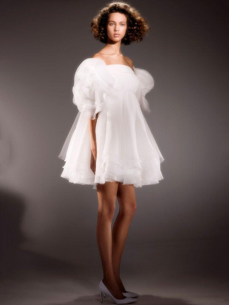 Viktor & Rolf Spring 2020 Bridal Collection tulle mini dress bridal look