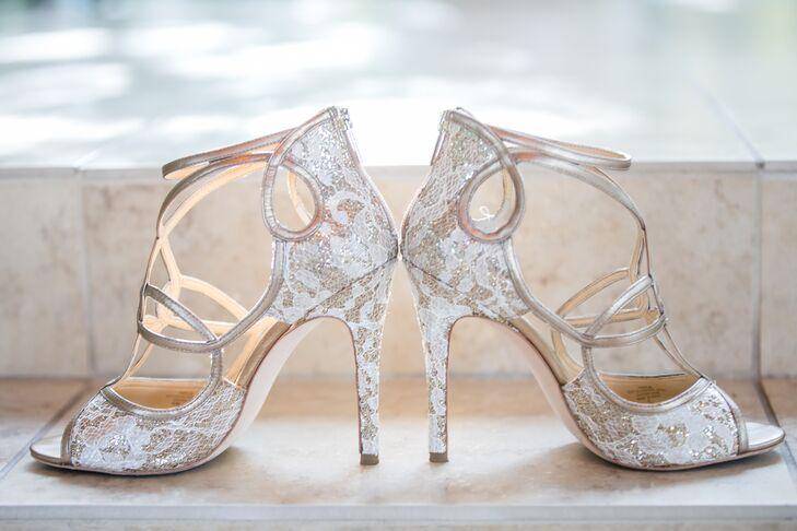 b61a2e6074e Vintage Lace Ivanka Trump Wedding Shoes. Favorite.